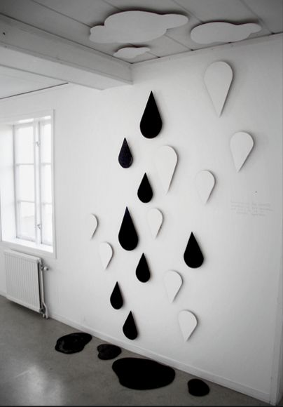 wall drops, with clouds