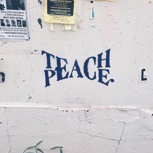 spainonymous: Teach Peace