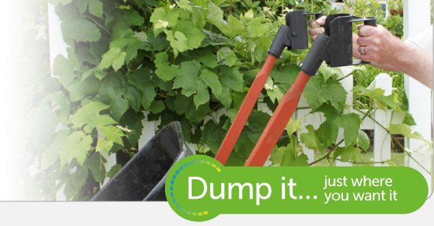 Simply Dump It, Pivoting Wheelbarrow Handles