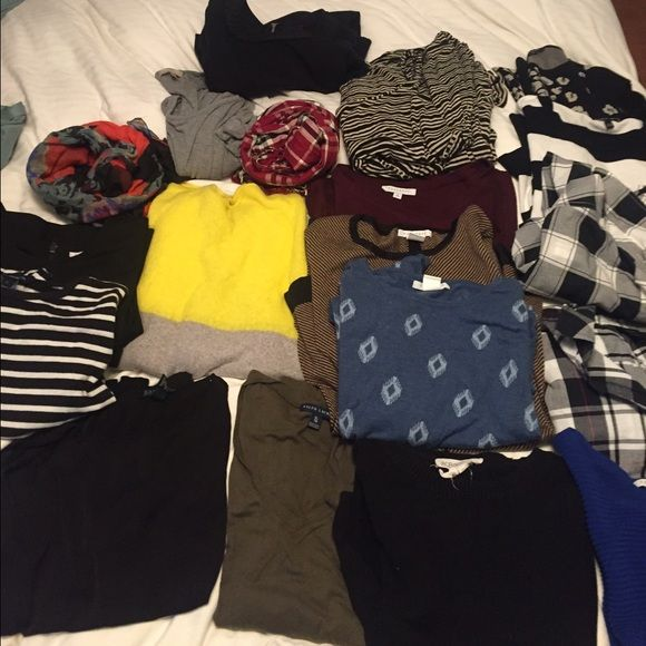 Assorted women's clothes used Womens M-XL clothes brands bcbg, French connection Ralph Lauren, gap and foxcroft. Used but have a lot of life still! BCBGeneration Tops