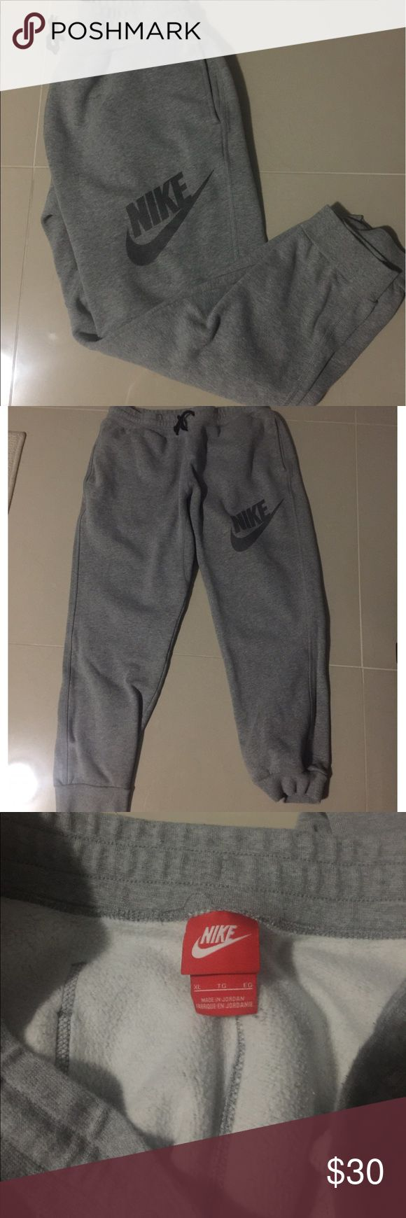 Men's Nike jogger sweatpants Men's Nike jogger sweatpants. Excellent pre-owned condition. Very comfortable with drawstring still intact. Nike Pants Sweatpants & Joggers