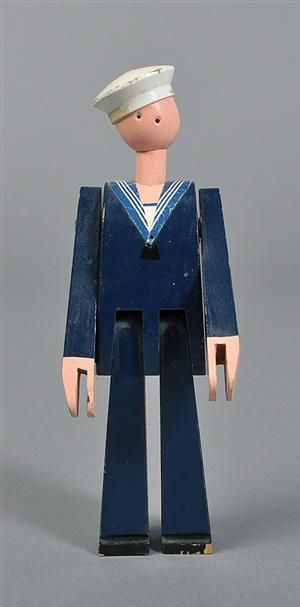 Kay Bojesen 1886-1958. Vintage painted wood toy sailor, Niels Juel#Repin By:Pinterest++ for iPad#