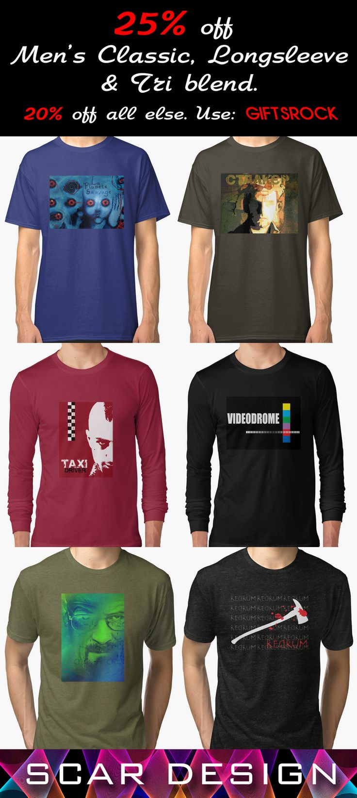 Sales!!! 25% Off Men's Classic, Longsleeve & Tri Blend T-Shirts 20% Off everything else!Use code: GIFTSROCK #Christmas #christmasgifts #XmasGifts #Xmas #sales #discound #christmassales #sales25% #merrychristmas #happyholidays #lovelygifts #giftsforhim #giftsforboys #giftset #homegifts #apparel #clothing #fashion #cool #holidaygifts #redbubble #familygifts #tshirts #longsleevetshirts #triblendtshirts #menfashion #scardesign
