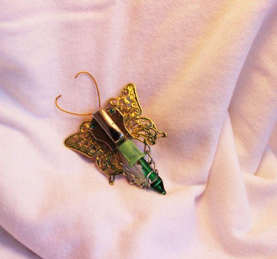 Broche papillon mécanique par SteampAddict sur Etsy, $35.00