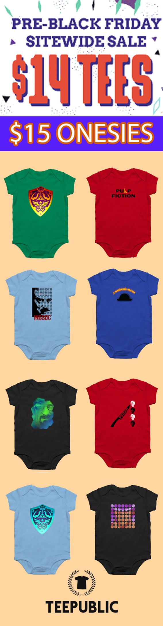 $15  Baby Onesies and Sales on All Products Today and Tommorow! #baby #babygifts #babyonesie #onesie #family #online #shopping #sales #save #discount #teepublic #onlineshopping #style #fashion #babystyle #gifts #giftsforher #giftsforhim #cinema #gaming #n https://presentbaby.com