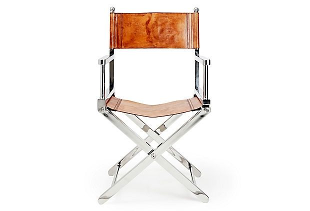 Superior One Kings Lane   Chalet Chic   Leather Director Chair, Tobacco