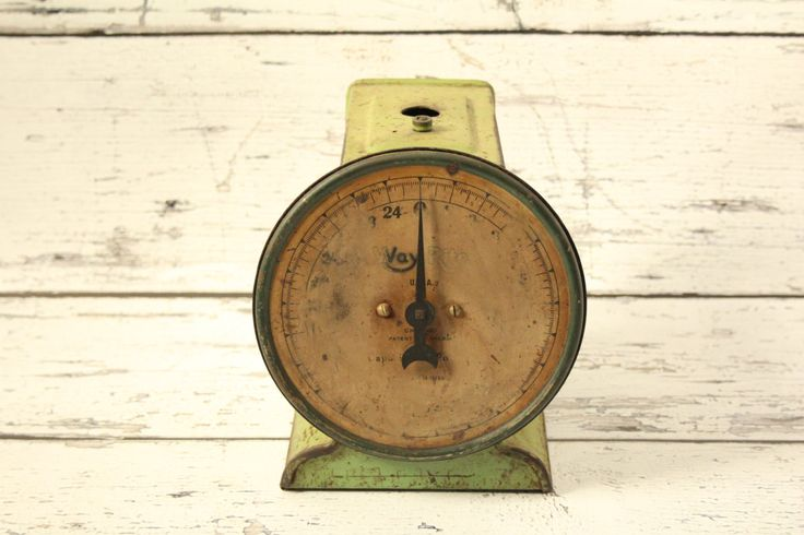 Vintage Way Rite Green Metal Kitchen Scale Farmhouse Chicago Illinois Made In The USA 25 Pound Capacity Rusty Decor Dial Decorative by BrooklynBornFinds on Etsy