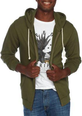 True Craft Men's Full Zip Hoodie - Mural Olive - Medium