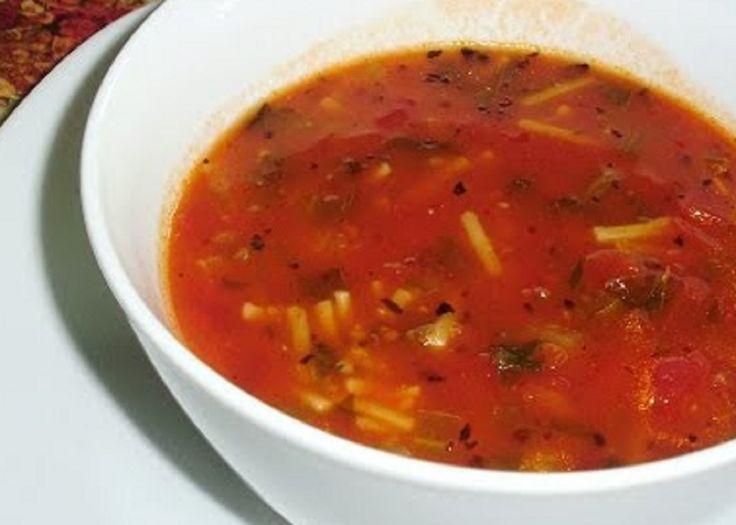 Recette : Soupe aux vermicelles et épinards.