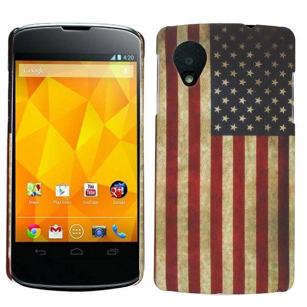 Amerikaanse vlag hardcase hoesje voor de LG Nexus 5