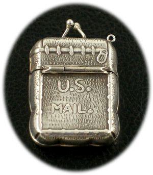 Antique postage stamp holder