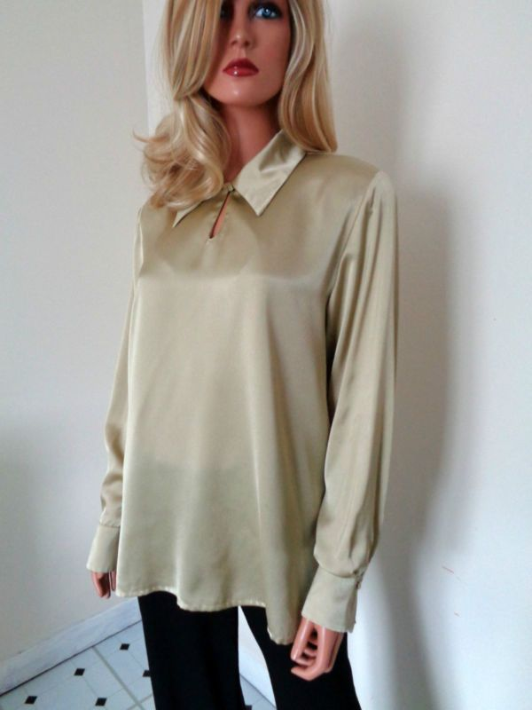 Ladies Gold Long Sleeved Top By Jaques Vert Size 12 in Clothes, Shoes & Accessories, Women's Clothing, Tops & Shirts | eBay