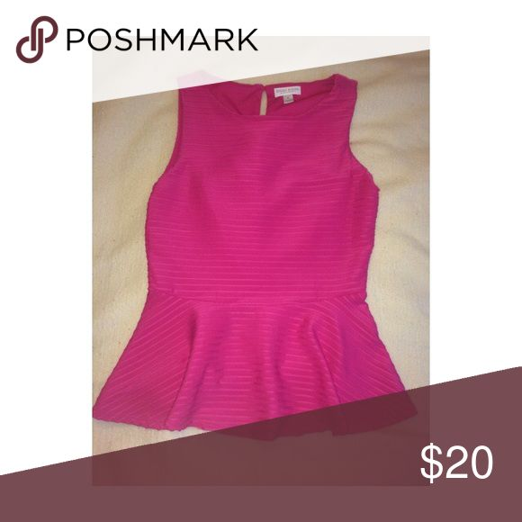 Pink Peplum Top Great for the spring and summer!! Tops Blouses