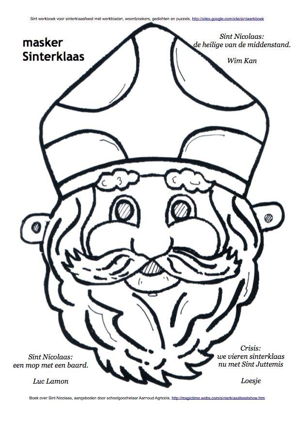 #Masker #Sinterklaas #kleurplaat