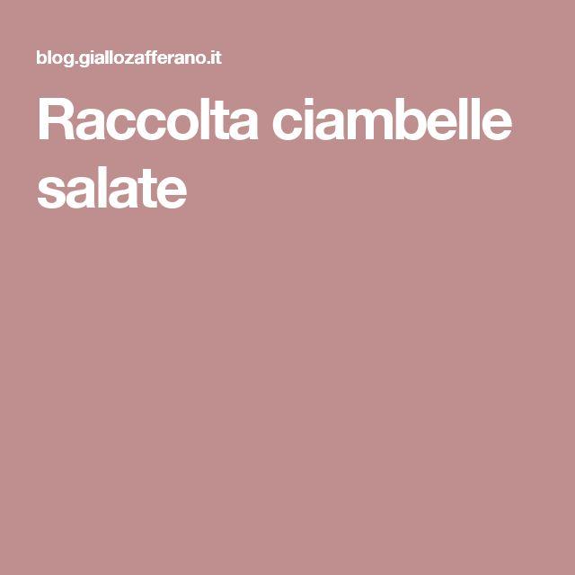 Raccolta ciambelle salate