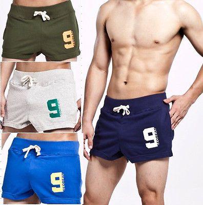 New-Mens-sleepwear-home-sport-shorts-Sexy-Boxer-Boxerbriefs-COTTON-M-L-XL