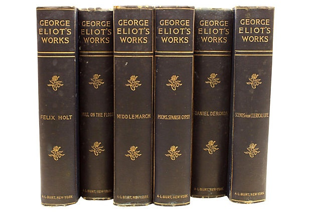 George Eliot's Works, Vintage Collection from the 1880s (Just acquired!)
