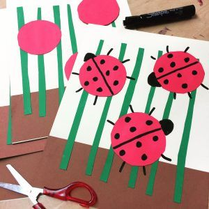 Lady Bug Collage. Extra simple, great for really young artists.