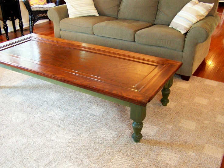 coffee table made from a door
