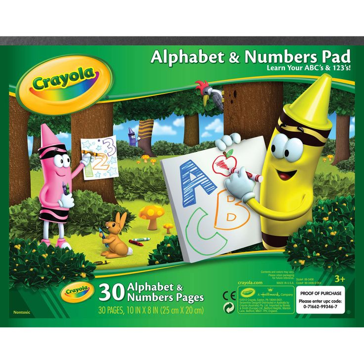 crayola alphabet numbers pad 99 3406 - Crayola Online Drawing