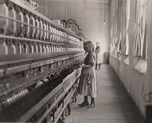 """Child in Carolina Cotton Mill."" 1908 American photographer & sociologist, Lewis Hine, recorded children's working lives on behalf of the National Child Labor Committee. ~ A Design History of Childhood 