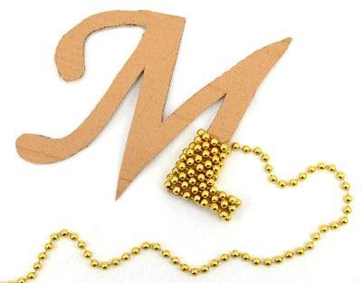 Party Ideas by Mardi Gras Outlet: Mardi Gras Bead Craft: DIY Monogram Letter.  Ttt