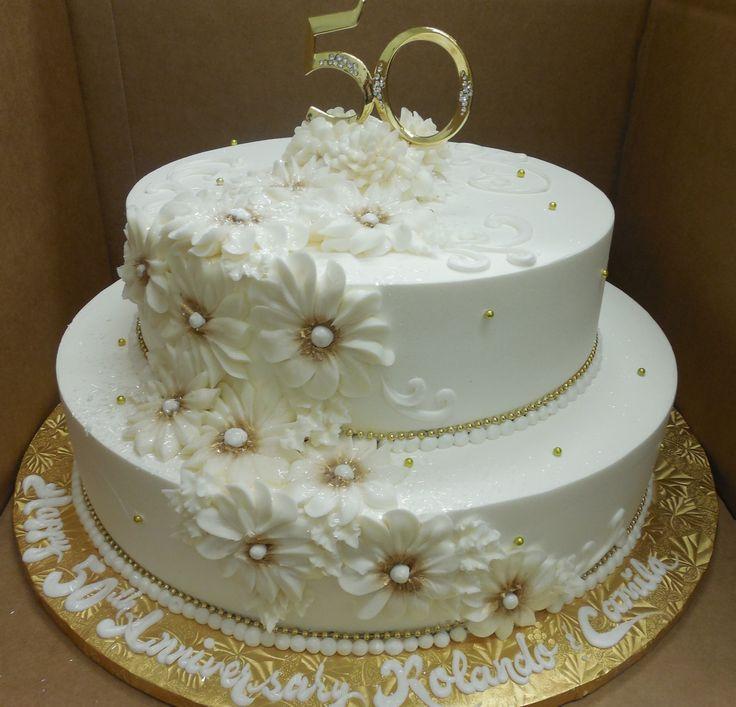 Cake Designs For 50th Wedding Anniversary : 147 best 50th wedding anniversary cake images on Pinterest ...