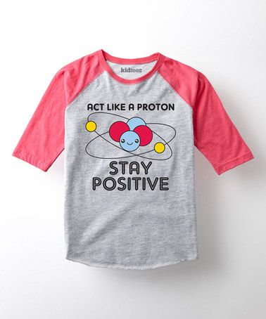Look what I found on #zulily! Heather Gray & Red 'Stay Positive' Raglan - Toddler & Kids #zulilyfinds