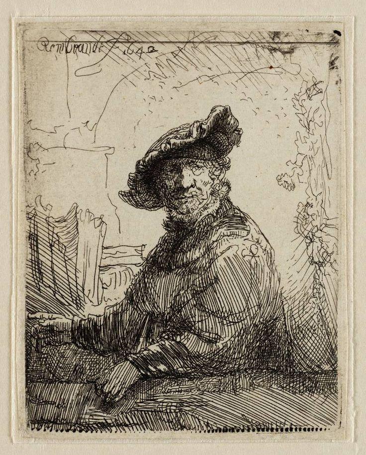 Mijn favoriete Rembrandt in Teylers Museum: Man in een prieel (B257)