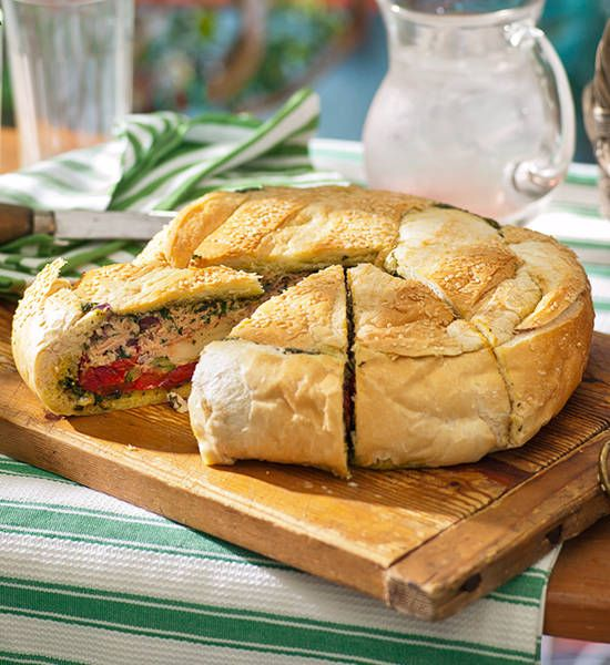 Italian tuna loaf: Planning a picnic? Make this loaf the night before, then pop it in the esky with a bottle of sparkling for top-notch alfresco dining. Or jus...
