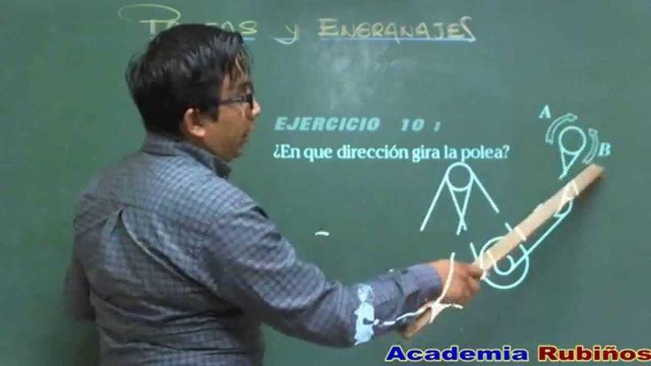 POLEAS , ENGRANAJES Y TRANSMISIONES EJERCICIOS RESUELTOS DE PSICOTECNICO