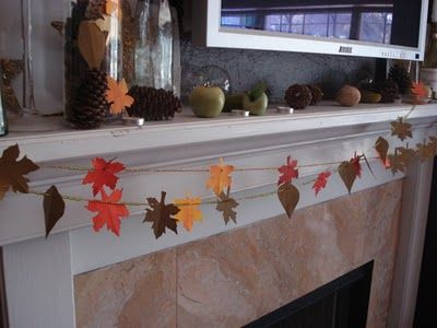 ReNew ReDo!: DIY - Thanksgiving Decorations - Paper Leaves Garland