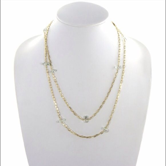 Coming Soon Colette Malouf Green Amethyst Necklace Colette Malouf Green Amethyst Necklace.        Satin Gold Plating - Green Amethyst Stones              Price is firm on NWT retail items. I will have 5 available. Please like to be notified of arrival! Colette Malouf Jewelry Necklaces