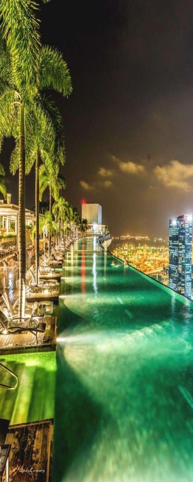 Infinity pool marina bay sands ladyluxurydesigns luxury travelluxury hotelshotels