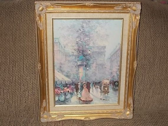 European 20th Century P Belloni Oil by Daysgonebytreasures on Etsy