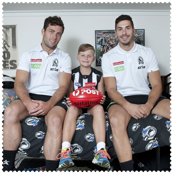 Yesterday Declan McMahon won a private training session with Australia Post AFL Multicultural Ambassador Patrick Kernezis and Collingwood player Jarryd Blair in Strathdale, 3550. #AustraliaConnected, #Australia, #Victoria, #Strathdale, #Bendigo, #CollingwoodFC, #Magpies, #AFL, #CommunityCamp, #postcode3550.