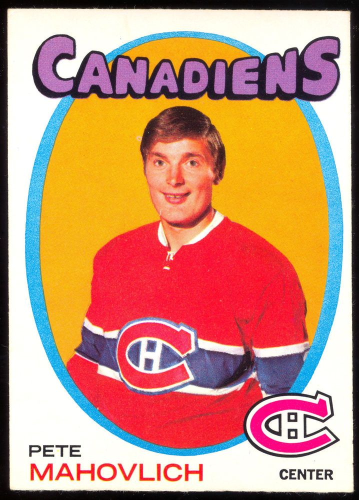 1971 72 Topps 84 PETE MAHOVLICH NM MONTREAL CANADIENS HOCKEY CARD #MontrealCanadiens