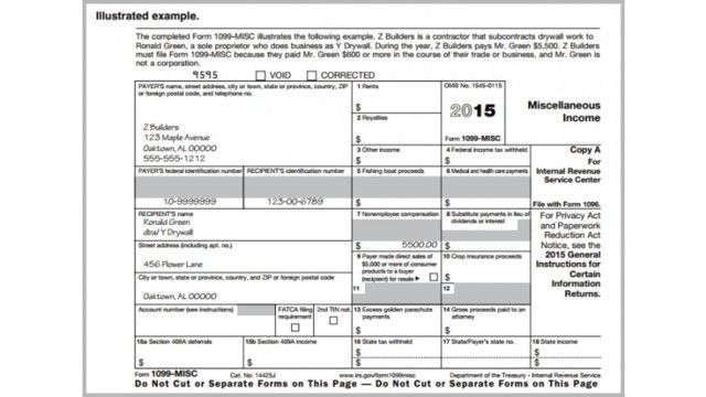 free 1099 form  Printable Irs Form 10-Misc For 10 (For Taxes To Be Filed ...