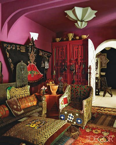 Afghan warlord bed liza bruce 39 s moroccan home an afghan for Gypsy designs interior decorating