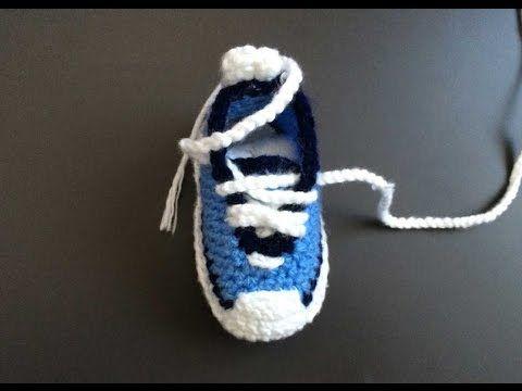 Crochet chaussure pour bébé كروشيه حذاء اطفال - YouTube