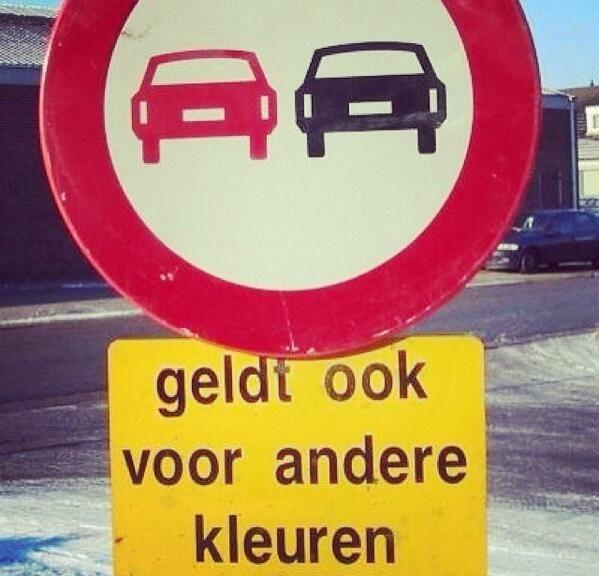 """ItS HUmoR .Dit kan alleen in Belgie ;-) (""""S'applique aussi aux voitures d'une autre couleur"""")"""