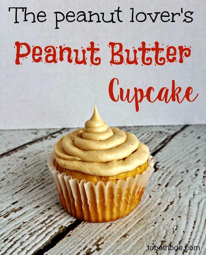 If you like peanut butter, then you will love this delicious peanut butter cupcake! Peanut butter is in the cake and icing! http://tobethode.com