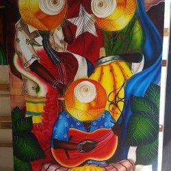 Three musicians!  Handmålad tavla med utmärkta detaljer som ger hemmet det lilla extra. Denna musiker tavla föreställer tre musiker som spelar på sina instrument som består av frukter.  Länk till produkt: http://www.feelhome.se/produkt/three-musicians/  #Homedecoration #Canvas #olipainting #art #interior #design #Painting #handpainted #Walldecor #väggdekor #interiordesign #canvastavla #canvastavlor #cuba #kuba #Threemusicians #Vardagsrum #Kontor #Abstrakt #Modernt #spelar