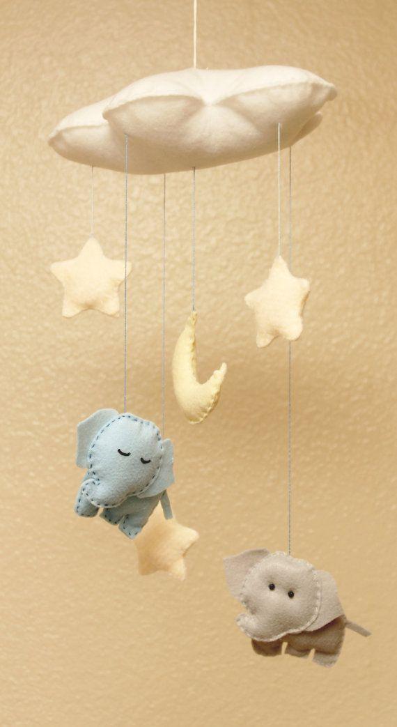 Éléphant mobile pépinière suspendus décor : par littleHooters