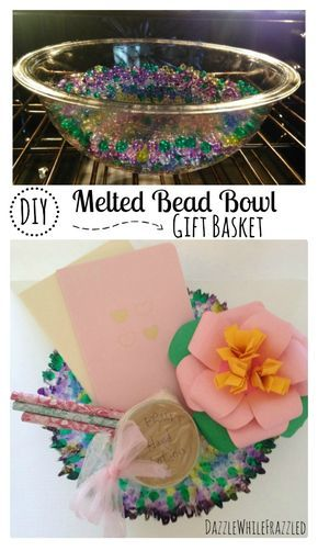 DIY Melted Bead Bowl for Mother's Day Gift, Homemade Mother's Day, Crafts for Mom, Pony Bead Kid Crafts via @https://www.pinterest.com/dazzlefrazzled/