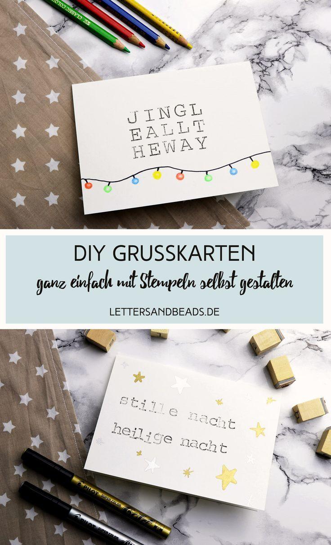 Diy Grußkarten Mit Stempeln Gestalten Diy Geschenke Look What I