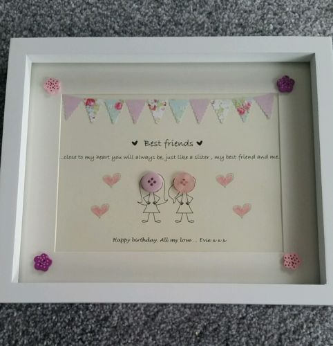 Best #friend button #picture birthday #present gift personalised mothers day,  View more on the LINK: 	http://www.zeppy.io/product/gb/2/252514550682/