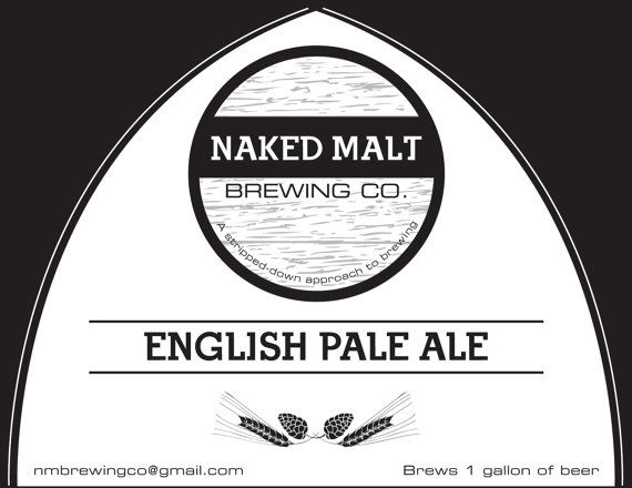 English Pale Ale One Gallon Home Brew Kit par NakedMaltBrewingCo
