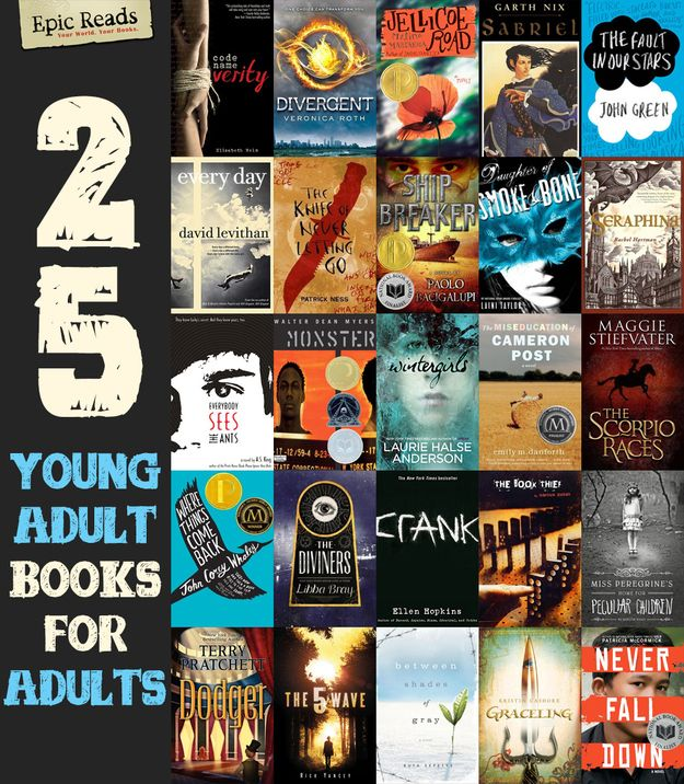 25 YA Books For Adults Who Don't Read Young Adult Literature.  I'd add on The Absolutely True Diary of a Part Time Indian and the Hunger Games to this list.  I want to read these!