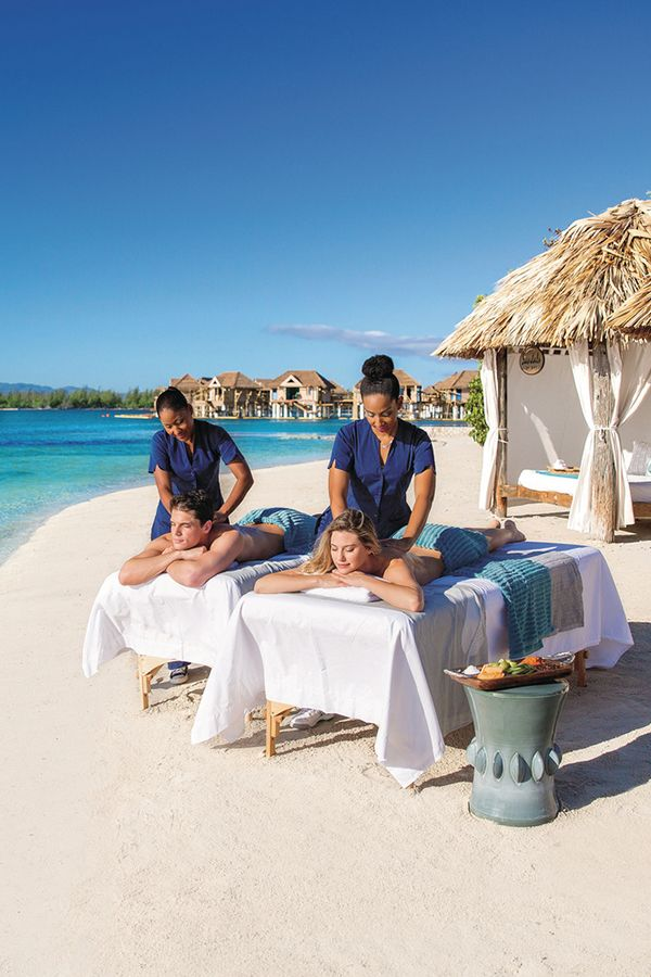 A Beach Massage At A Romantic All Inclusive Resort Could Be Just What You Want To Do On Your Honeymoon Let Us Help You Pl Massage Couples Massage Massage Room